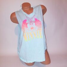 Disney Juniors Minnie Mouse Tank Top Muscle Tee Sleeveless XL Light Blue NEW