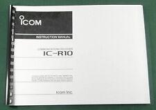 Icom IC-R10 Instruction Manual: Premium Card Stock Covers & 28lb Paper
