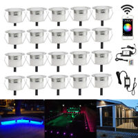20X 45mm Wifi RGB+Warm White LED Deck Lights Yard Stair Soffit Landscape Lamp