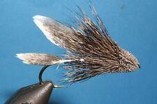Muddler Minnow - Silver body -12 flies -#6,8,10