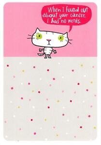 About Your Cancer - Curse Word -  Cat Consoles Get Well Soon - Hallmark Card