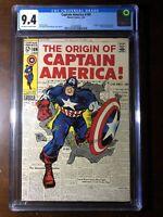 Captain America #109 (1969) - Captain America Origin!!! - CGC 9.4!!