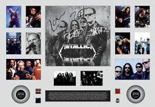 New Metallica Signed Oversized Limited Edition Memorabilia Framed