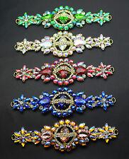 1 pcs Costume Wedding Dress Applique Color Crystal Rhinestone Sewing On(K9042)