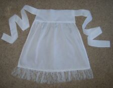 "Ladies white apron pinny 21"" long National Tudor Fairy Tale fancy dress costume"