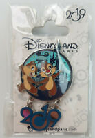 Disneyland Disney 2019 Chip & Dale Tic et Tac Dangle Pin Trading Badge Hanging
