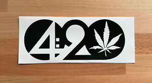 CANNABIS CULTURE WEED POT 4:20 STICKERS STICKY DECALS CAR VAN BUMPER LAPTOP