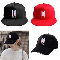Kpop BTS Logo Baseball Cap Bangtan Boys Hip Hop Cap Snapback Hat for Men Women