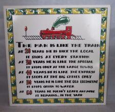 The Man Is Like The Train Trivet by Knossos Ltd, Katsidoniotis Bros Greece