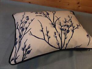 "Laura Ashley Pussy Willow Midnight fabric Cushion 14"" x 18"""