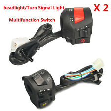 7/8'' UNIVERSAL HANDLEBAR MOTORCYCLE HORN ON-OFF Turn Signal Headlight SWITCHES