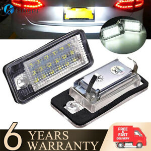 2 x LED Car License Number Plate Light Lamp For Audi A3 S3 A4 S4 B6 B7 A6 S6 A8