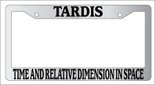 Chrome License Frame Tardis Time And Relative Dimension In Space Docotor Who