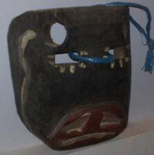 MASCHERA legno da cerimonia etnica vintage