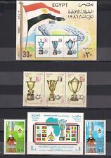 EGYPT - 2 DIFFERENT AFRICAN CUP - SS + STAMPS - M.N.H.