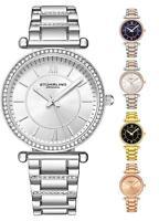 Stuhrling 3905 Women's Fashion Crystal Studded Japan Quartz Steel Bracelet Watch