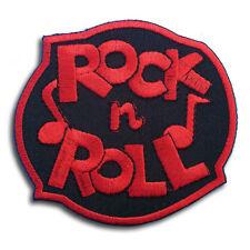 Rock & Roll Patch Embroidered Iron on Music Biker Retro Logo Rockabilly Punk Sew