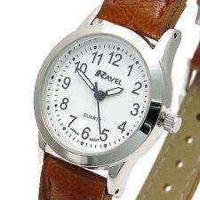 Ravel Ladies Super-Clear Easy Read Quartz Watch Brown Strap R0130.12.2