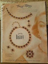 1954 Bogoff tawny topaz jewelry Jean Patchett model color AD
