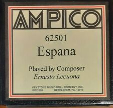 ESPANA PLAYED BY THE COMPOSER AMPICO RECUT REPRODUCING PIANO ROLL
