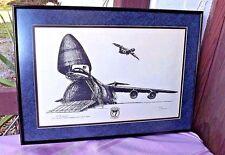 "1991 ""C-58 GALAXY 56TH MILITARY AIRLIFT SQUADRON "" LINDA TERENTIAK -METAL FRAMED"