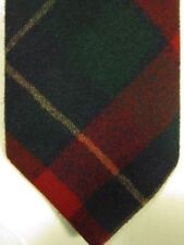 VINTAGE Pendleton USA 100% Wool Red and Green Plaid Long Tall Tie
