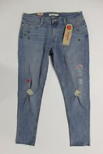 Women's Levi's 535 Super Skinny Cropped Jeans (384180004) Hearts - Size 12 / 31W