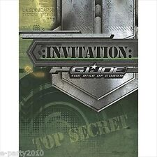 GI JOE Rise of Cobra INVITATIONS and THANK YOUS ~ Birthday Party Supplies Notes