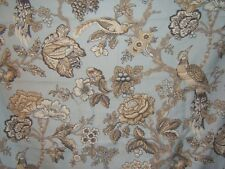 Waverly, Casablanca Rose, Floral with Birds, By the Yard, Color Blue