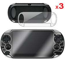 3 x FULL BODY Front & Back CLEAR Screen Protectors for Sony Playstation PS VITA