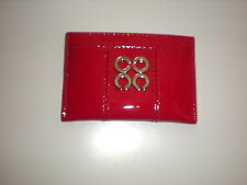 NWT COACH Julia Patent Leather Card Case NWT Red   # 46725