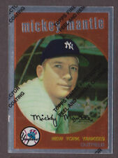 1996 Topps Finest w/coating MICKEY MANTLE #9 of 19 1959 Topps Reprint