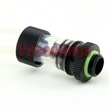 "PC Liquid Cooling Compression Fitting G1/4 Thread Matt Black 3/8"" ID x 5/8"" OD"