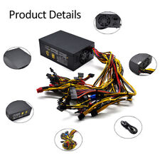 2000W 110V Power Supply For 8 GPU Rig Ethereum Coin Mining Miner Machine NBTS