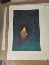 The Village Shyamalan -  Moebius - rare screenprinted art print