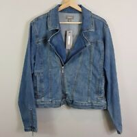[ SUSSAN ] Womens Zip Denim Jacket NEW  | Size AU 16 or US 12