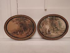 Le Blond Ovals The Swing & Dancing Dogs Framed Prints Dating to 1850's