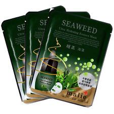 Seaweed Essence Mask Sheet Facial Moisture Face Pack Skin Care Anti-Aging 3pcs