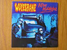 "WOLFSBANE After Midnight 1991 UK 7"" VINYL SINGLE IN PICTURE SLEEVE HEAVY METAL"