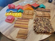 Huge Lincoln Logs Lot Of 280+ Pieces Roofs And Lots More Good Mix Of Pieces