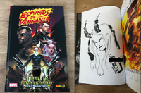 ESPIRITUS DE VENGANZA MARVEL ORIGINAL HAND DRAWING SIGNED DAVID BALDEON COMIC