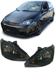BLACK SMOKED HEADLIGHTS HEADLAMPS FOR FORD FOCUS MK1 10/2001 - 10/2004 NICE GIFT