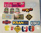 Vintage Radio Promo Stickers KSJO, KFAT, KOME, KMEL, KLIV, KSFO, KFRC, KSAN