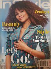 In Style Magazine Jan 2018 Zendaya Why She's On Fire FREE SHIPPING mc