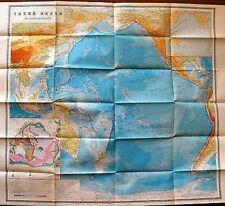 Vintage Soviet Wall Pacific Ocean Moscow 1981 M 1: 750 000