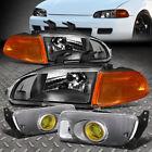 For 92-95 Honda Civic Amber Corner Turn Signal Headlightbumper Driving Fog Lamp