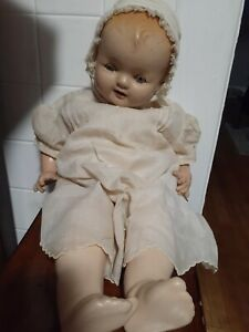 """Vintage Composition Doll Baby Hendren 20"""" Tall  1920's Averill Manufacturing Com"""