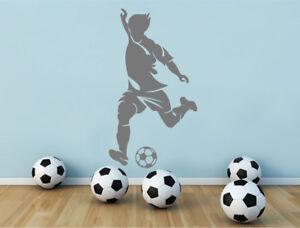 Footballer wall sticker, Soccer player decal, Football wall art sticker