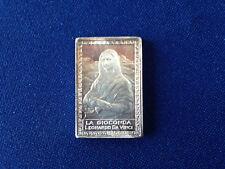 La Gioconda Leonardo Da Vinci Opera Maxima in Saeculis Silver Art Bar P1884