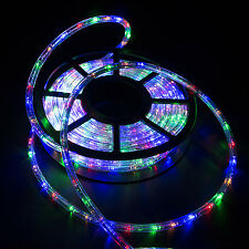New 50FT LED Rope Light 2-Wire Decorative In Outdoor Home Party Stripe Lighting